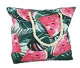 zeitzone Strandtasche Melone Karibik Badetasche mit Reißverschluss Beach Bag Shopper