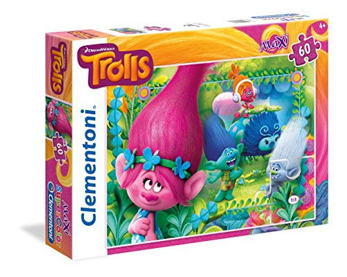 Clementoni - Puzzle 60 Piezas Maxi You'Re Invited to This Party Trolls (26586.2)