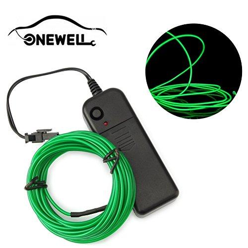 ht, LED Neon LED Licht Glow EL Wire String Streifen Seil Tube für Auto Dekoration, Party, Halloween (Grün) (Glow Halloween-partys)