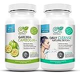 Garcinia Cambogia 80% HCA & Detox cleanse plus - Original bundle von DailyNature. Vegetarisches Set. Superstrange+ Garcinia Tabletten und 13in1 colon cleanse Duo. Stärkere optimierte Garcinia Tabletten für schnellere Ergebnisse. UVP: 49,95€