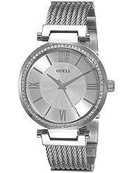 Guess Damen-Armbanduhr Analog Quarz Edelstahl W0638L1
