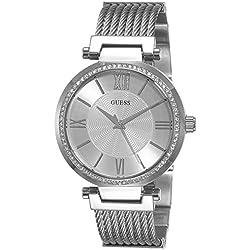 Guess W0638L1 - Reloj de lujo para mujer, color plateado