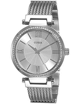 Guess Damen-Armbanduhr Soho Analog Quarz Edelstahl W0638L1