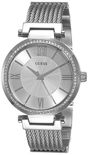 guess-womens-quartz-watch-with-silver-dial-analogue-display-and-silver-stainless-steel-bracelet-w063