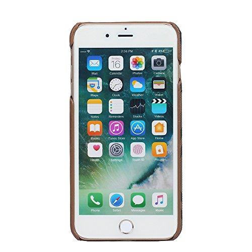 iPhone 8 Plus Hülle, Valenth [Card Slot] Slim Fit Vollschutz Anti-Kratzer Resistant Cover Hülle Shell für iPhone 7 Plus / 8 Plus Braun
