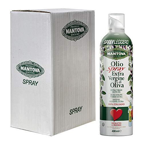 Olio extravergine di oliva 100% italiano, estratto a freddo (6 x 400 ml)-con lo spray risparmi fino al 90% di prodotto