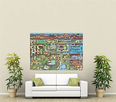 VIDEO GAMES THE LEGEND OF ZELDA MAPS GIANT ART PRINT POSTER X LARGE ST1191 by Giant