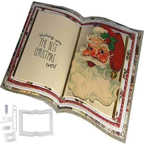 squarex Metall Formen Schablone Scrapbooking Prägung Album Papier Card Craft für Kinder DIY, Karbonstahl, 06, AS Show