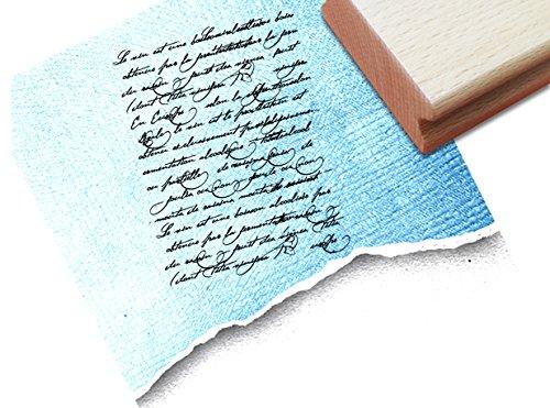 STEMPEL - Vintage Textstempel Vintage Écriture IV mit alter Handschrift - Eleganter Schriftstempel im Shabby chic style - Typostempel von zAcheR-fineT (Shabby Chic Scrapbook-papier)