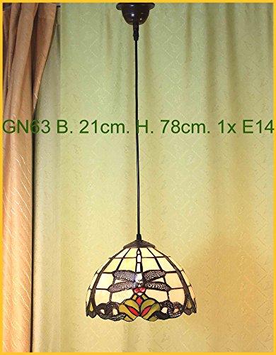 Graf von Gerlitzen Tiffany Decken Lampe Deckenlampe Hängelampe Tiffanylampe GN63