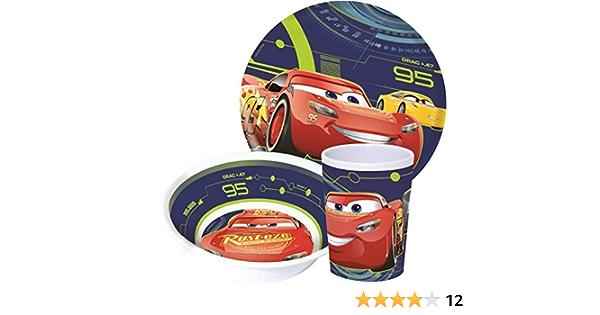 Disney Princesse Cars Dumbo Chiot Pals Enfants 3 Pièce Diner Ensemble Assiette Bol Gobelet