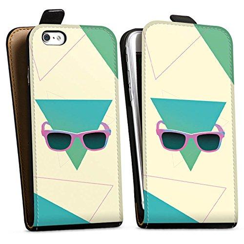Apple iPhone X Silikon Hülle Case Schutzhülle Hipster Dreieck Sonnenbrille Downflip Tasche schwarz