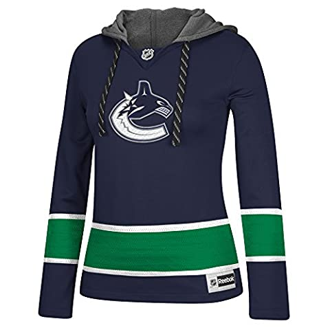 NHL Vancouver Canucks Women's Jersey Crewdie Sweatshirt, X-Large, Navy