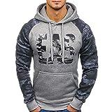 """Vovotrade Herren Cargo-Style Pullover Sweatshirt Hoodie Sweater Camouflage Herren Herbst Gedruckt Brief """"EAS"""