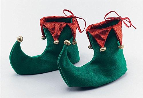 Deluxe Weihnachten Spitz Elf Schuhe (grün, 2)