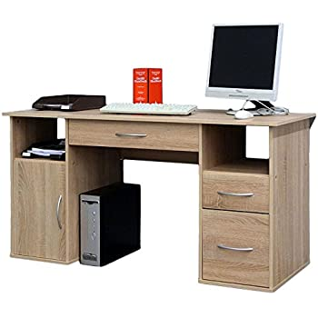 Stella Trading Primus Schreibtisch, Holzdekor, Sonoma, ca