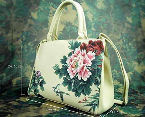 HYLM Borse di moda Borsa nuova borsa della borsa della tela di canapa della signora Folk-Custom , e11 ea06