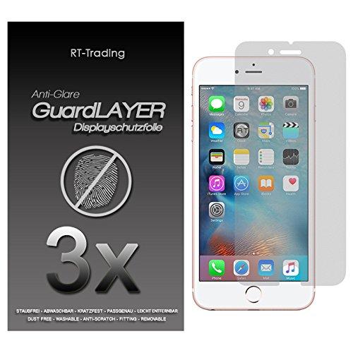 3x Apple iPhone 6S Plus (5,5 Zoll) - Display Schutzfolie Matt Folie Schutz Display Anti Glare Screen Protector Displayfolie - RT-Trading Iphone Anti Glare Screen Protector