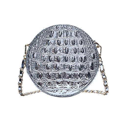 UmhäNgetasche, Chshe TM, Damenmode Einfache UmhäNgetasche Alligator Textur ReißVerschluss UmhäNgetasche UmhäNgetasche UmhäNgetasche Handtasche Reisetasche(Silber) -