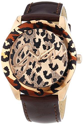 Guess-W0455L3-Reloj-de-cuarzo-para-mujer-correa-de-cuero-color-marrn