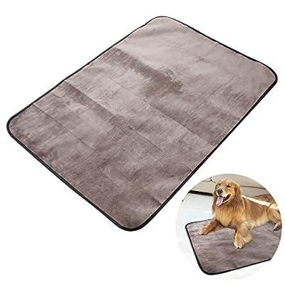 UEETEK Waterproof Pet Blanket Collapsible Plush Pet Mat for Dog Puppy Cat Indoor Outdoor Lawn Use,100*70CM by UEETEK