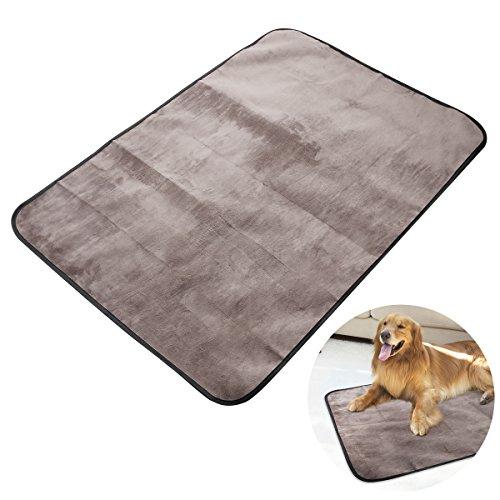 UEETEK Manta para mascotas, impermeable y de felpa manta para perros c