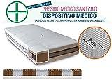 InMaterassi – Materasso Singolo a Molle insaccate e Memory Foam, Ortopedico, antiacaro, Made in Italy con Tecnologia SilverCare