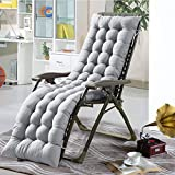 Loveinwinter Materassino per Sdraio Casa 155 CM, Cuscini Lounge Chair Cuscino Imbottito per Sedia A Sdraio Cuscino Panca per Poltrona Sdraio Relax da Casa E Giardino (Senza Chair)