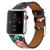 htfrgeds Compatible/Reemplazo para Apple Watch Brazalete Correa de Reloj Reemplazo de Textura áspera Correa de Cuero 42 / 44mm Deporte Compatible i Reloj Serie 1 Serie 2 Serie 3 Serie 4 (E)