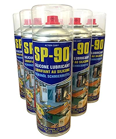 (PACK OF 2) Action Can SP-90 Premium Silicone Dry Film Lubricant 500ml
