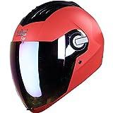 #10: Steelbird Sba-2 Full Face Helmet,Free Transparent Visor For Night Vision (Large- 600Mm, Red- Smoke Visor)