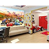 kinder fototapete poster cars 250x100cm kinderzimmer tapete bord re wanddekor wandtatoo wandbild. Black Bedroom Furniture Sets. Home Design Ideas
