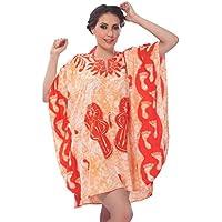 La Leela super soft likre tie mano le donne colorante flip flop kimono costumi da bagno caftano mini casuale 4 in 1 bikini coprire loungewear abito tunica top base