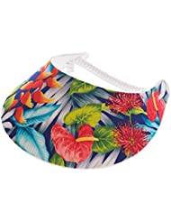 """XFORE visière soleil """"Livingston"""" casquette de golf sport tennis pour femmes avec motif floral, taille unique"""
