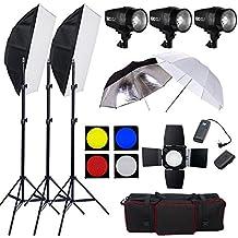 BPS 540W Flash Estudio Fotografía Profesional Kit Completo para el Disparo de Retrato y Vídeo,