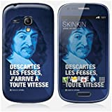 Sticker Samsung Galaxy S3 mini de chez Skinkin - Design original : Descartes par Fists et Lettres
