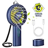 Tvird Handheld Fan Portable, Mini Fan Hand Fan Rechargeable Battery Operated USB Fan Electric Fan Desk fan Table Fan Battery Hand Fans for Women for Office Room Outdoor Traveling