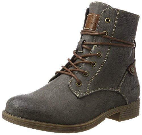 TOM TAILOR Damen 3792101 Stiefel, Grau (Coal), 36 EU