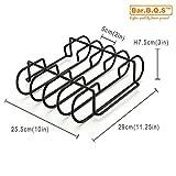 Bar.b.q.s Porcelain Enamel Sturdy Steel Rib Rack For - Best Reviews Guide