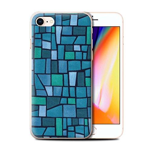 Stuff4 Hülle / Case für Apple iPhone 8 / Rosa/Lila Muster / Mosaik Fliese Kollektion Blau/Türkis