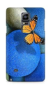 AMEZ Butterfly Pebbles Back Cover For Samsung Galaxy Note 4