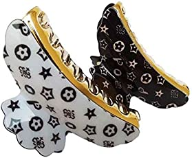 Pooja Trendz 2 Pcs Printed Butterfly Shape Hair Claw/Clip-Assorted Mixed Color Pack-Hair Clutcher.