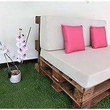 sof asiento y respaldo con espuma chill out con tejido y color efecto lino