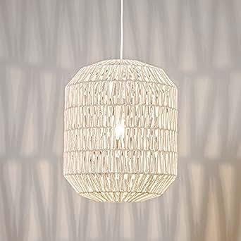 QAZQA Design / Moderne / Salle a manger suspension / Lustre / Luminaire / Lumiere / Éclairage Lina Hive 40 blanc Metal / Tissu / Globe Compatible pour LED E27 Max. 1 x 60 Watt / intérieur / Salon / Ch