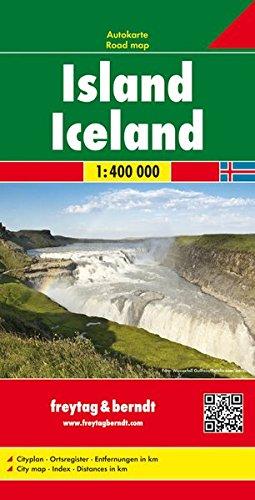 Islandia, mapa de carreteras. Escala 1:400.000. Freytag & Berndt. (Auto karte) por VV.AA.