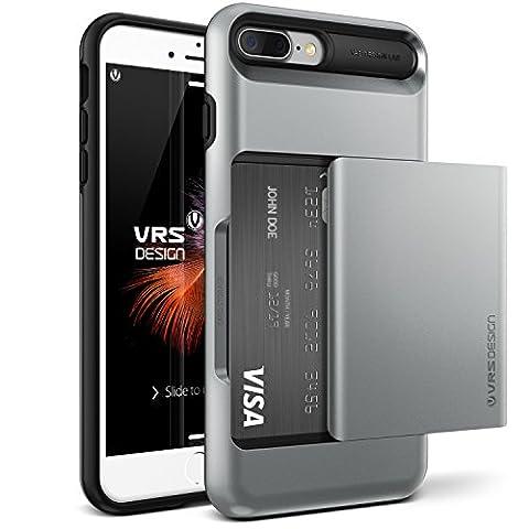 iPhone 7 Plus Case, VRS Design [Steel Silver] Shockproof Sliding