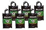 6 x 2,5 Kg Beach Kokos Grill Briketts von BlackSellig reine Kokosnussschalen Grillkohle - perfekte Profiqualität - REACH registriert