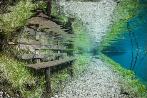Posterlounge Lienzo 180 x 120 cm: The Bench nitrogenic