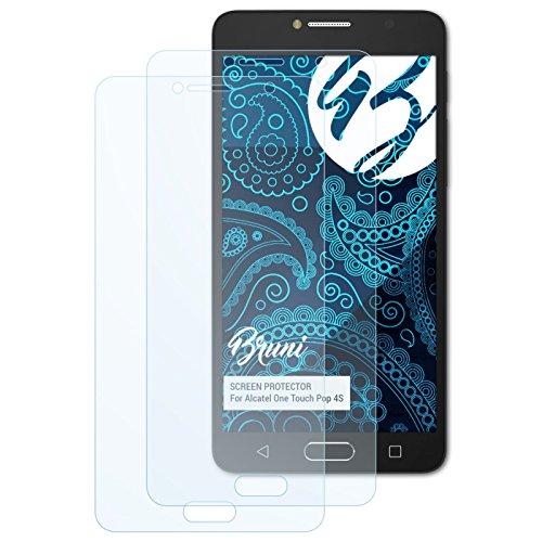 Bruni Schutzfolie kompatibel mit Alcatel One Touch Pop 4S Folie, glasklare Bildschirmschutzfolie (2X)