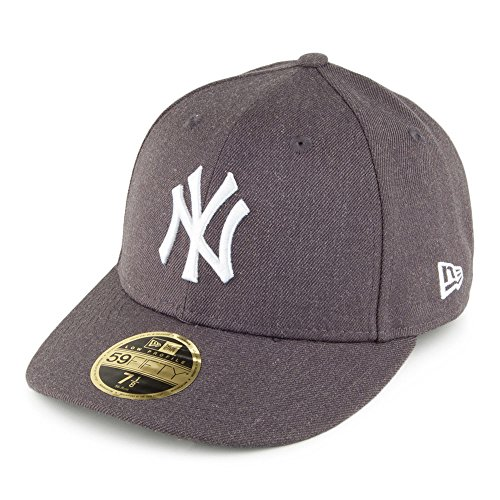 New Era 59FIFTY New York Yankees Baseball Cap - Heather Low Profile - Charcoal